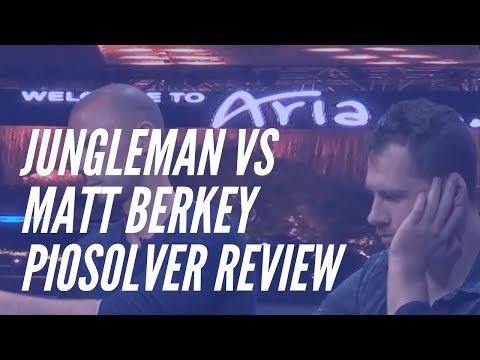 Piosolver analysis: Jungleman's Downbet Bamboozles Matt Berkey : poker