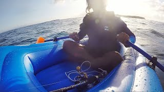 Fishing Jervis Bay in a $41 inflatable boat - Fishing Australia