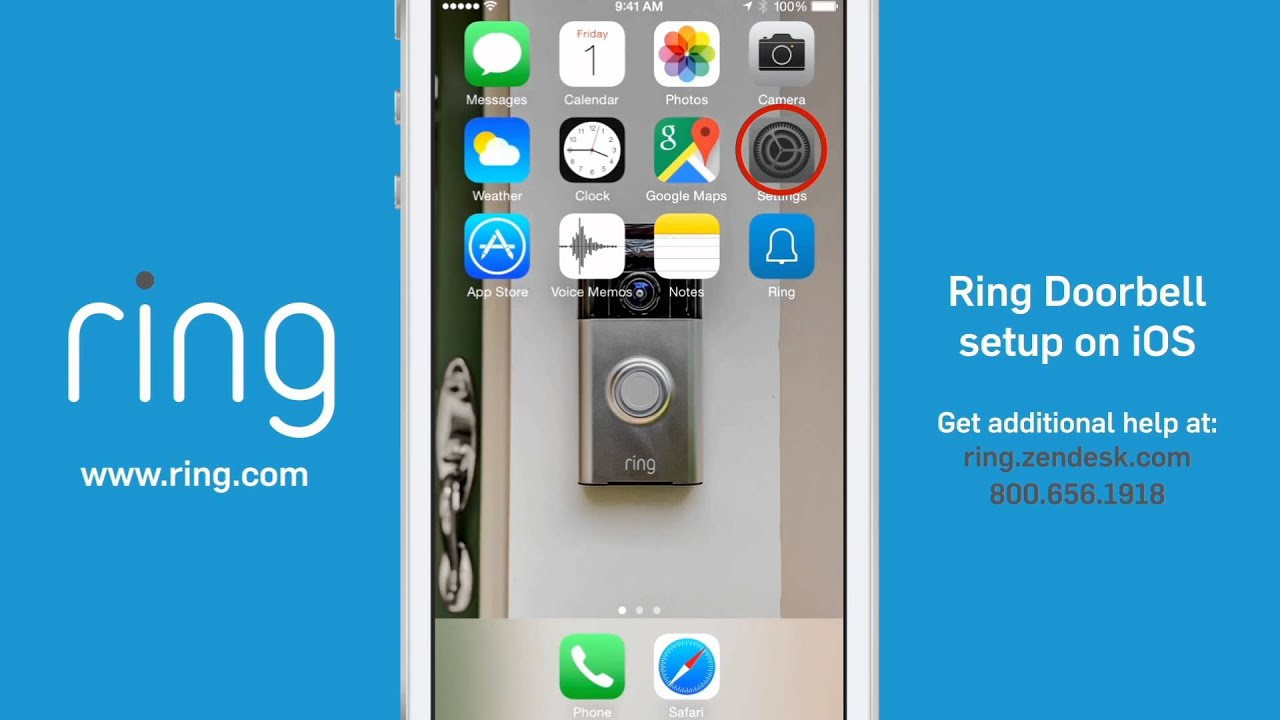 Ring Smart Doorbell Setup for iOS - Ace Hardware - YouTube