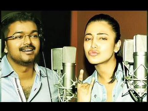 Vijay Sings Peppy Song for Puli | Shruti Hassan, Hansika, Sridevi
