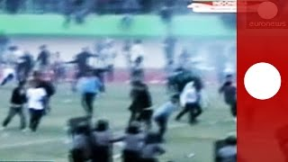Fatal clash between police and football fans, Indonesia