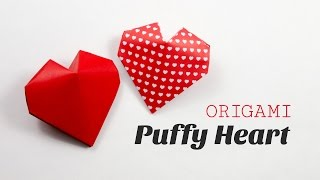 Origami Puffy Heart Instructions - 3D Paper Heart