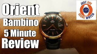 5 Minute Watch Review - Orient Bambino Rose Gold ER24001B