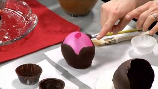 Chocolate Cups & Bowls Using Balloons, or Cupcake Liners