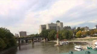Prairie Dog Train - Special Excursion Into Via Station - Downtown Winnipeg - Sept 25 2013   Video 4