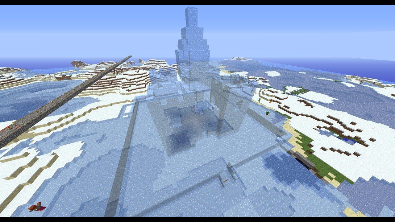 Minecraft Ice Castle Youtube
