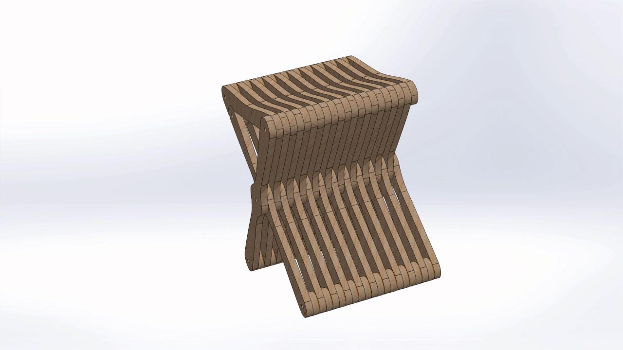CNC Router Laser DXF Files Folding Chair Vectors 2D Woodworking ArtCAM