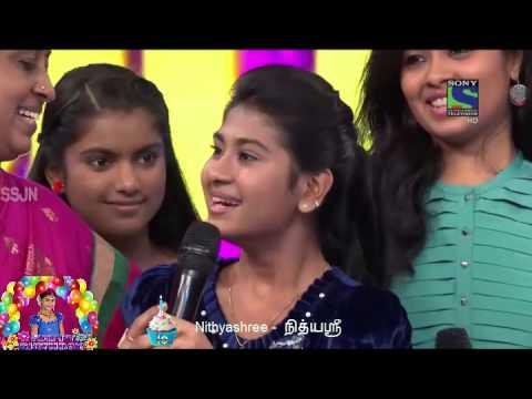 Nithyashree Birthday celebrate on Sony Television gave Shock Surprised 12-07-2015