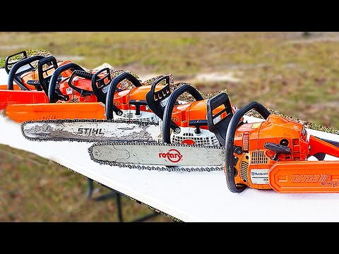 Farm Saw Vs. Pro Saw! We Compare Stihl, Husqvarna And Echo!