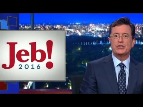 Colbert and Fallon compete for presidential punchlines