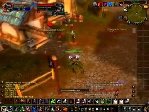 wow lvl 1 twink shaman  - short PvP video