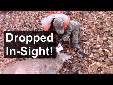 Shotgun Deer Hunting - Perfect Shot!