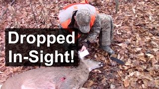 Shotgun Deer Hunting - Perfect Shot!