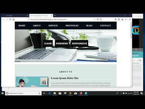How To Create A Website Usign Html And Css Bangla Tutorial ||