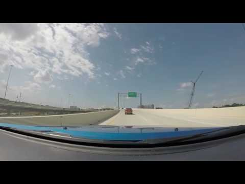 New 290 Ramp from 610 West Loop - Houston, TX - GoPro Freeway Video May 2016