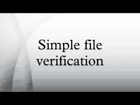 Simple file verification