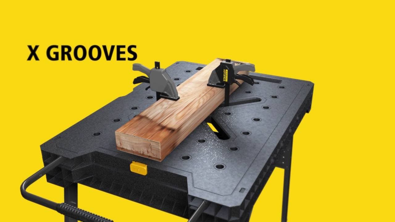 prodigious Stanley Portable Clamping Table Part - 15: STANLEY® FATMAX® Express™ folding workbench