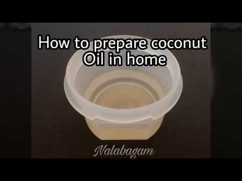 Home made coconut oil part-1/Tamil recepies /tutorials /cooking
