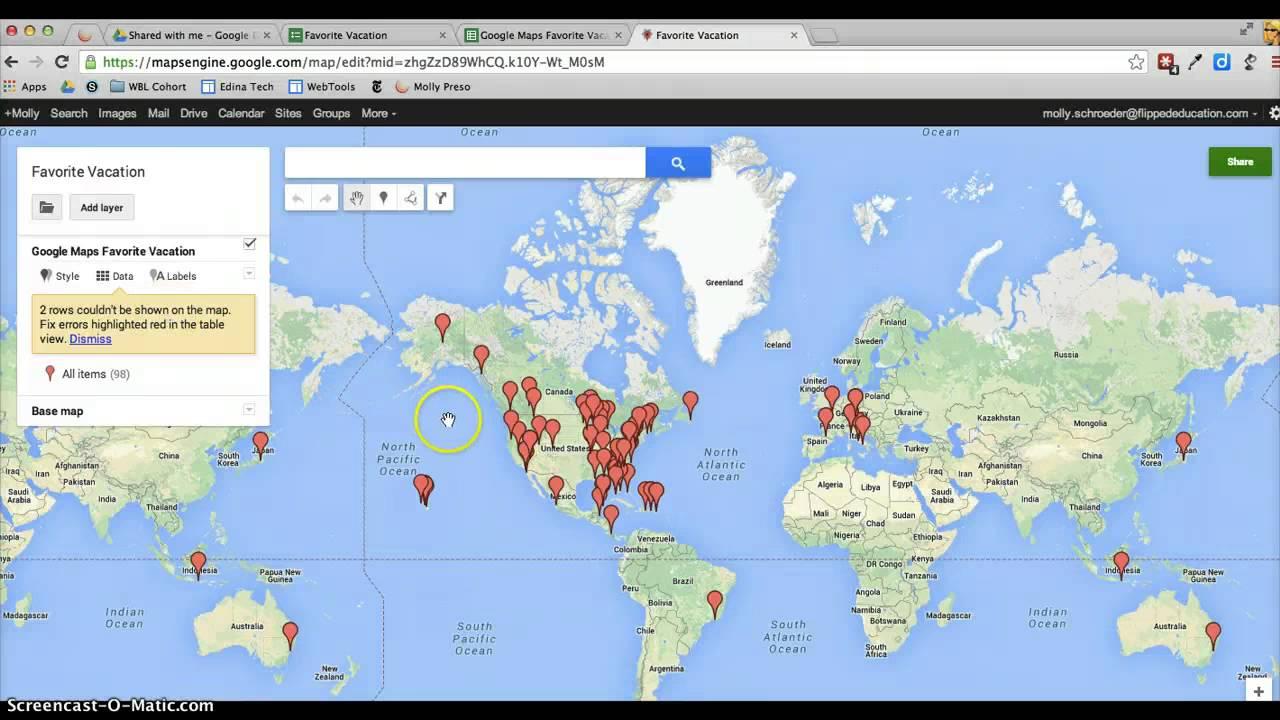 Import Data into Google Maps Engine on import csv, import powerpoint, import database,