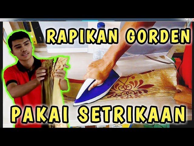 Cara Melipat Gorden Plisket - Model Kawat Dengan Setrikaan Di Rumah || DIY #cara #tutorial