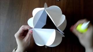 Шар из бумаги своими руками/декоративный шар.(В этом видео показываю, как можно сделать декоративный шар из бумаги своими руками. Материалы для изготовл..., 2015-12-09T12:07:18.000Z)