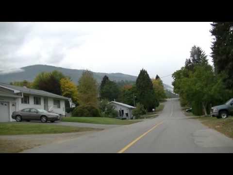 Driving in Castlegar BC Canada - Kootenay British Columbia - Drive Around Town