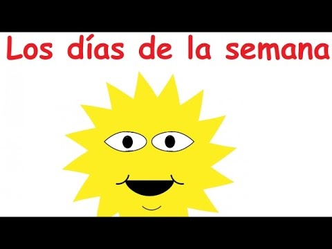 """Days of the Week"" in Spanish (sing-along song)"