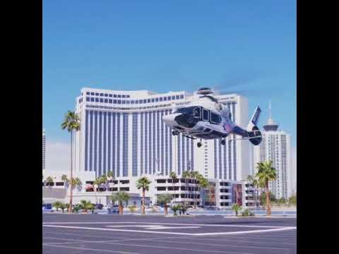 Airbus H-160 landing for Expo Heli fair