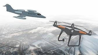 Lentokoneen ja kauko-ohjatun ilma-aluksen yhteentörmäysvaara Valkeakoskella 6.2.2019