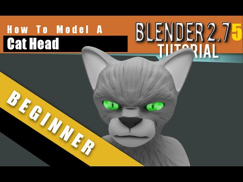 How To Model A Cat Head In Blender 2.75 a