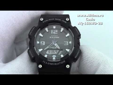 Мужские японские наручные часы Casio AQ-160WD-2B