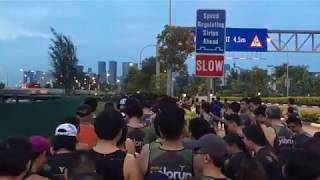 YOLO run Singapore 2017 - rush hour