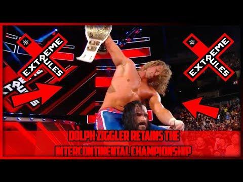 SETH ROLLINS VS DOLPH ZIGGLER | ZIGGLER WINS (WWE EXTREME RULES 2018 RESULTS)