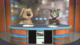 TALKING TOM AND BEN NEWS about Bonnie playing Roblox