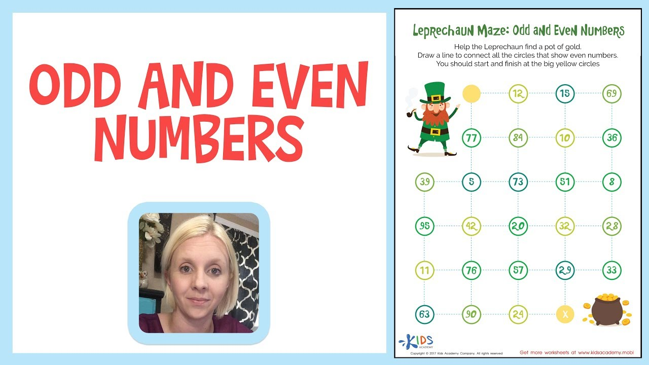 small resolution of Odd and Even Numbers - Learn Numbers for 1st and 2nd Grade - Kids Academy
