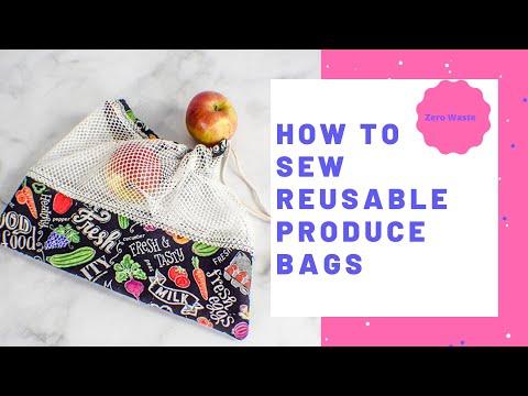 How to Make a reusable Zero Waste Produce Bag