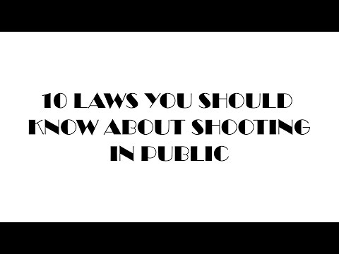 !!!$13 KINDLE!!! 10 laws you should know about shooting or filming in public.
