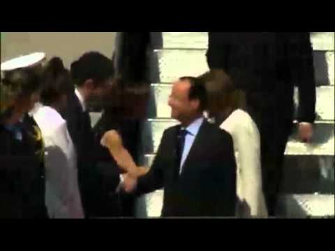 Raw Video: Hollande Arrives in Washington