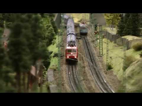 Model Railway Layout in HO scale with German Landscapes