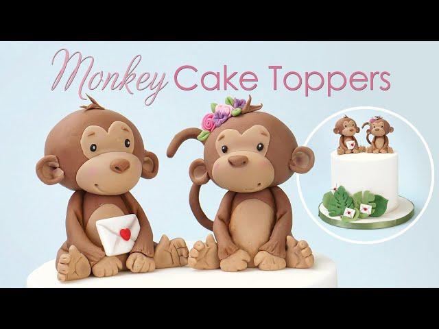 How to make a Cute Monkey Cake Topper Tutorial