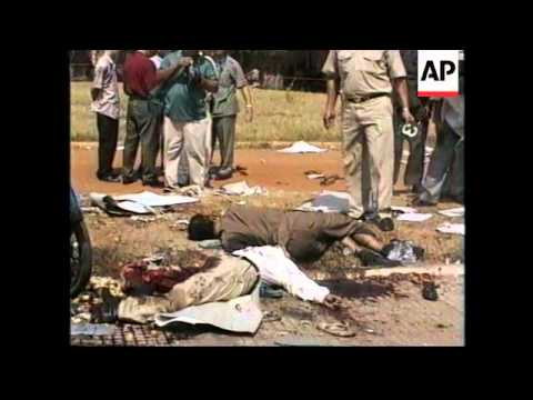 CAMBODIA: VICTIMS OF GRENADE ATTACK AT POLITICAL RALLY ARE CREMATED