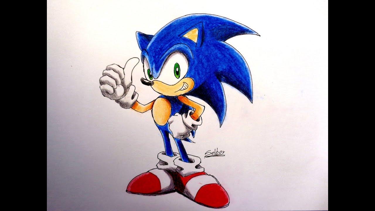 Cómo dibujar a Sonic | Selbor - YouTube
