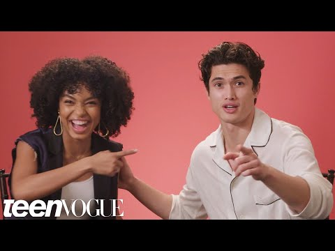 Yara Shahidi and Charles Melton Play &39;I Dare You&39;  Teen Vogue