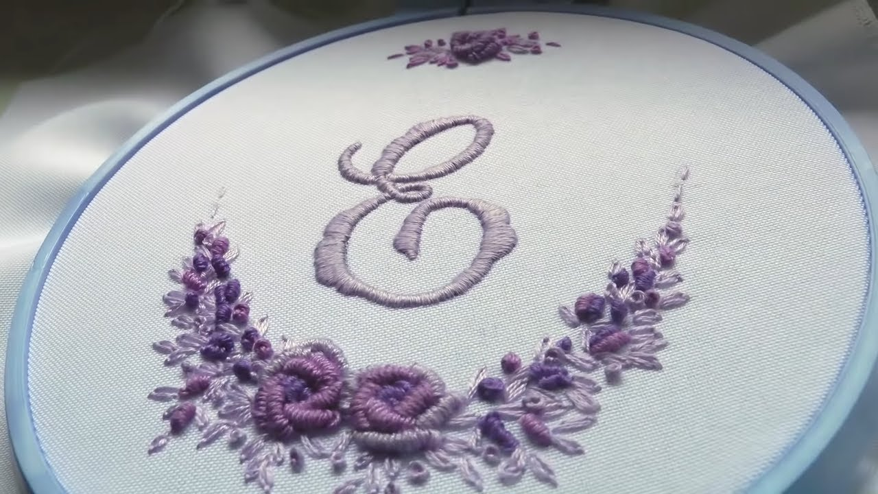 ВЫШИВКА МОНОГРАММА hand embroidery monogram youtube