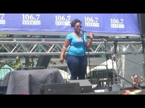 Charity Angel Dawson at Broadway in Bryant Park 07-20-2017