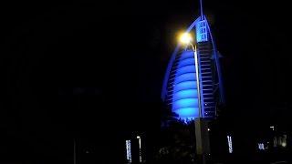 BURJ AL ARAB JUMEIRAH BEACH BY NIGHT DUBAI