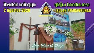IBADAH MINGGU 2 AGUSTUS 2020 GKJW BONDOWOSO [Bulan Pembangunan GKJW] Live 08.00 wib