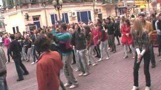 Танцевальный флэшмоб в День Города Москвы
