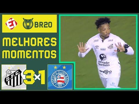 SANTOS 3 X 1 BAHIA - MELHORES MOMENTOS - BRASILEIRÃO (01/11/2020)