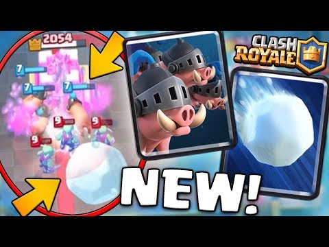 NEW ROYAL HOGS & GIANT SNOWBALL CARDS GAMEPLAY! | Clash Royale | NEW CARDS GAMEPLAY! OP!?